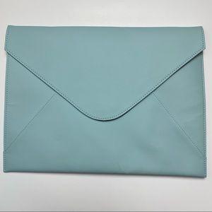 Bellagenda iPad Envelope Sleeve Case Holder Clutch Teal Faux Leather